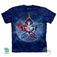 【摩達客】(預購)美國進口The Mountain 五角星龍 純棉環保短袖T恤
