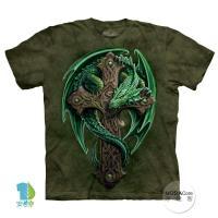 【摩達客】(預購)美國進口The Mountain 林地守護龍 純棉環保短袖T恤