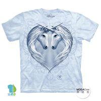 【摩達客】(預購)美國進口The Mountain 獨角獸之心 純棉環保短袖T恤