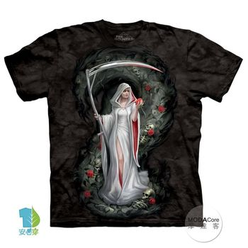 【摩達客】(預購)美國進口The Mountain 血魔女死神 純棉環保短袖T恤