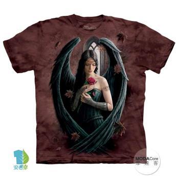 【摩達客】(預購)美國進口The Mountain 天使玫瑰 純棉環保短袖T恤