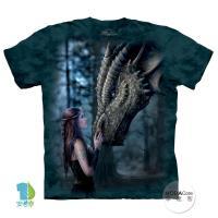 【摩達客】(預購)美國進口The Mountain 女神與龍 純棉環保短袖T恤