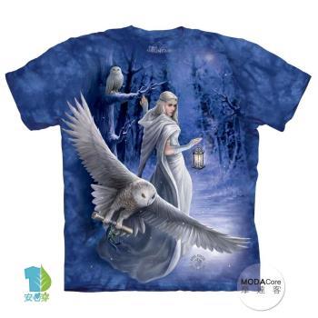 【摩達客】(預購)美國進口The Mountain 貓頭鷹信使 純棉環保短袖T恤