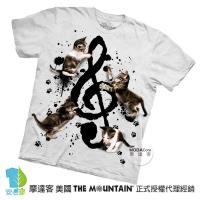 【摩達客】(預購)美國進口The Mountain 貓與音符 純棉環保短袖T恤