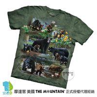 【摩達客】(預購)美國進口The Mountain 熊群拼貼 純棉環保短袖T恤