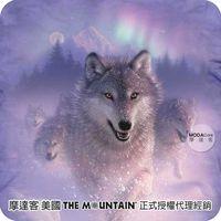 【摩達客】(預購)美國進口The Mountain 歐若拉之狼 純棉環保短袖T恤