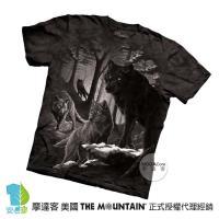 【摩達客】(預購)美國進口The Mountain 暗夜狼眼 純棉環保短袖T恤