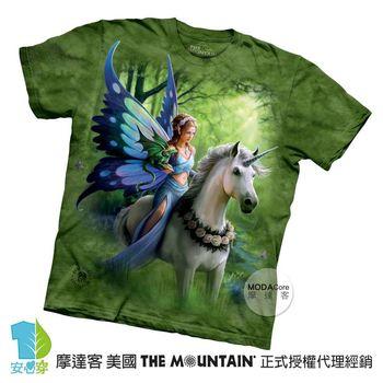 【摩達客】(預購)( 男童/女童裝)美國進口The Mountain 獨角獸仙女精靈 純棉環保短袖T恤
