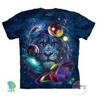 【摩達客】(預購)( 男童/女童裝)美國進口The Mountain 宇宙獅子 純棉環保短袖T恤