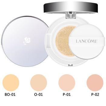 LANCOME蘭蔻 激光煥白氣墊粉餅(14g)任選一色+粉盒1個