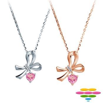 彩糖鑽工坊 蘿莉塔Lolita系列 鑽石粉紅寶石項鍊