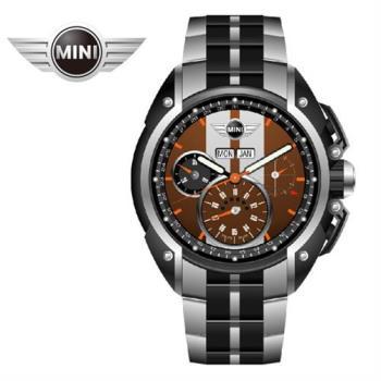 萬寶鐘錶MINI手錶/腕錶 MINI Swiss Watches雙巧克力色石英計時鍊帶手錶 45mm MINI-04S