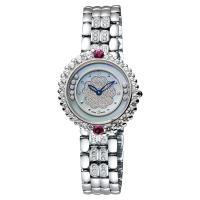 Ogival 愛其華 戀山茶花系列時尚腕錶 藍色珍珠貝x銀 30mm 305-15DLW藍面