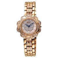 Ogival 愛其華 山茶花 花漾展放真鑽腕錶 白彩貝x玫塊金 32.5mm 305-14DLR