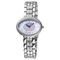 Ogival 山茶花珍珠貝璀璨真鑽腕錶 藍彩貝x銀 32mm 305-022DLW
