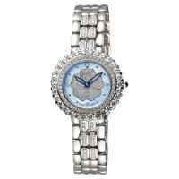Ogival 愛其華 山茶花珍愛真鑽腕錶 藍貝x銀 31mm 305-21DLW藍貝