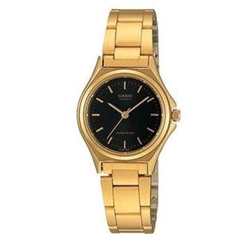 【CASIO】 簡約時尚精緻淑女腕錶-羅馬黑面 (LTP-1130N-1A)