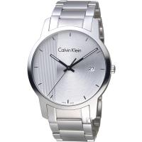 Calvin Klein City Gity 都會系列時尚腕錶 K2G2G14X  銀白