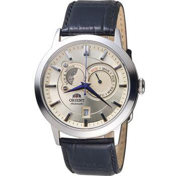 ORIENT 東方錶 SUNMOON系列 多功能機械錶 FET0P003W