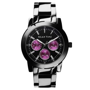 Relax Time 炫彩中性日曆腕錶 紫x黑 R0800-16-03 R0800-16-03X 組合賣場