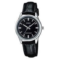【CASIO】 經典復古輕巧指針日期腕錶-羅馬黑面X銀框 (LTP-V005L-1A)