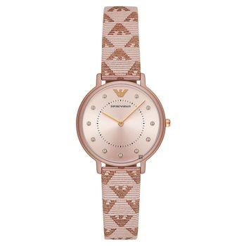 Emporio Armani Dress 亞曼尼晶鑽女錶 玫塊金 32mm AR11010