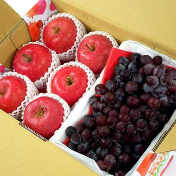 【鮮果日誌】王牌禮盒(智利富士蘋果6入+巨峰葡萄2.5台斤)