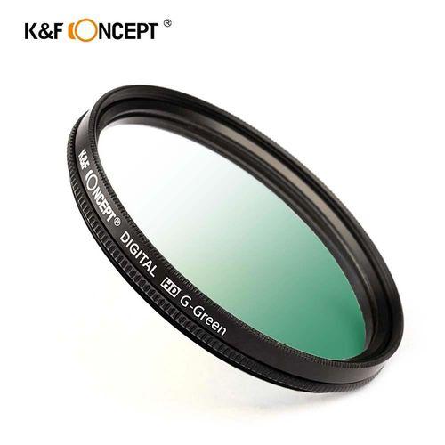 KF Concept 超薄無暗角清晰漸變圓形濾鏡 綠色