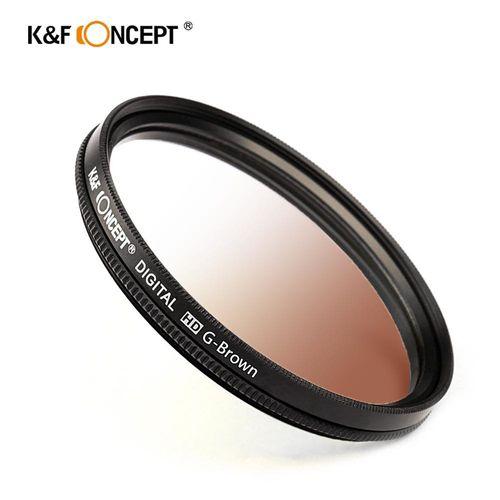 KF Concept 超薄無暗角清晰漸變圓形濾鏡 咖啡色