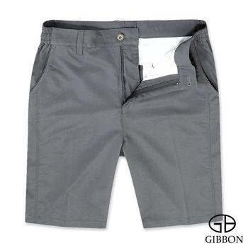 GIBBON 吸濕排汗彈力休閒短褲‧灰色M-3XL