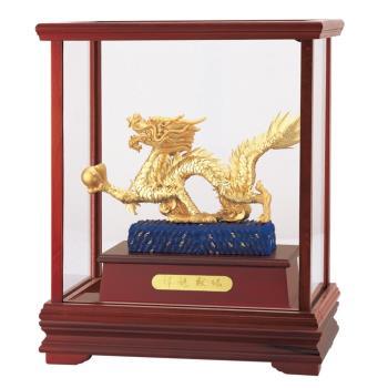【開運陶源】純金 立體金箔櫥窗~(祥龍獻瑞) 金龍雕塑
