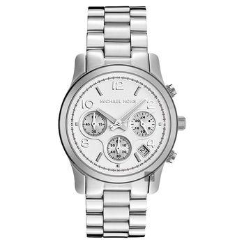 Michael Kors 都會風情三眼計時腕錶 銀 MK5076
