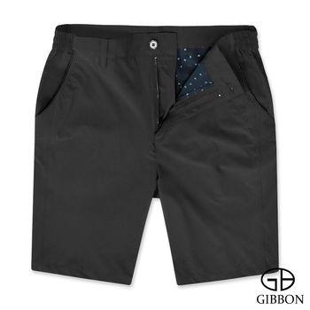 GIBBON 吸濕排汗超彈力休閒短褲‧黑色M-3XL