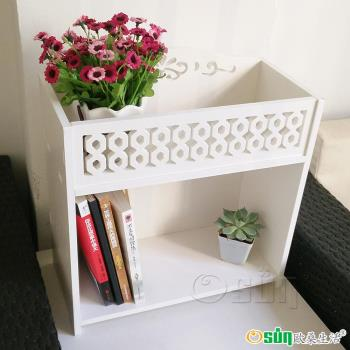 Osun DIY木塑板 桌上花架收納架 二入組 CE178- HJ005