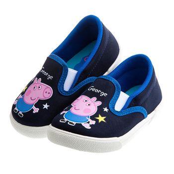 粉紅豬小妹喬治豬藍色兒童輕便休閒鞋室內鞋(14~18公分)