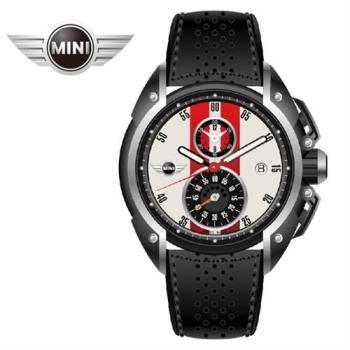 萬寶鐘錶MINI手錶/腕錶 MINI Swiss Watches熱情紅白石英計時皮帶手錶 45mm MINI-14