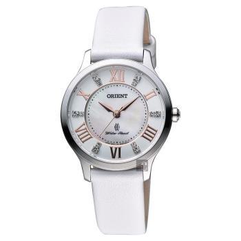 ORIENT 典雅優美晶鑽女錶 珍珠貝x白 31mm FUB9B005W
