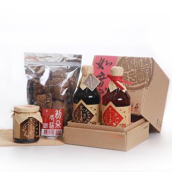 黑豆桑 感恩温馨4入禮盒(缸底+蘋果淳+黑豆+冬菇)