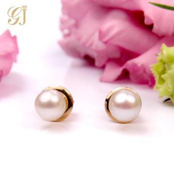 晉佳珠寶 Gemdealler Jewellery 蘊藏著變幻莫測之美 14K金淡水珍珠耳環 5mm