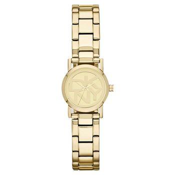 DKNY 魅惑時尚品牌LOGO女錶 鏡面金 20mm NY8855