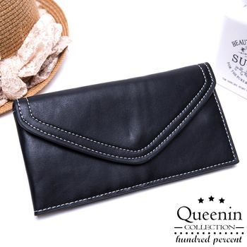 DF Queenin皮夾 - 清新信封式多卡收納長夾-共2色