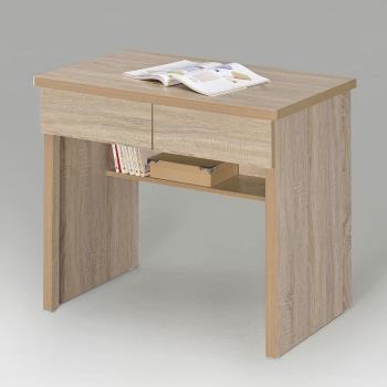 Homelike 簡約二抽書桌-橡木色