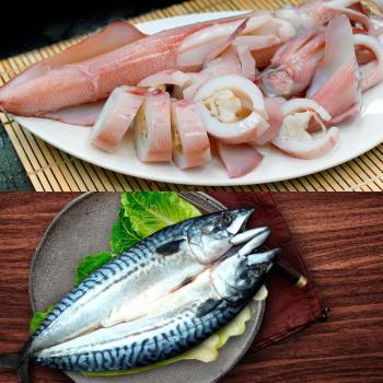 築地一番鮮 挪威鯖魚一夜干5尾+正澎湖鮮冰卷5隻