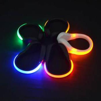 夜間戶外運動LED發光鞋夾/鞋扣/手環