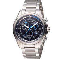 CITIZEN Eco-Drive 光動能計時腕錶 AT2130-83E  黑