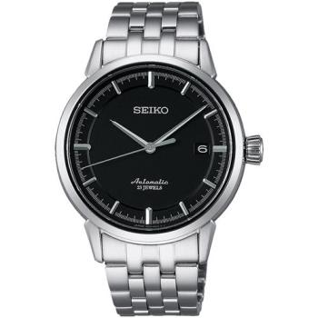 SEIKO Presage 時尚極簡機械腕錶 黑 39mm 6R15-02Y0D SARX023J