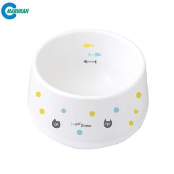 【MARUKAN】日本 加高陶瓷碗-貓用(CT-415)