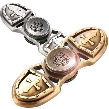 (極速陀螺) 十字軍 古銅色 指尖陀螺 手指陀螺