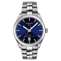 TISSOT天梭 PR100 Powermatic 80 機械腕錶 藍x銀 39mm T1014071104100