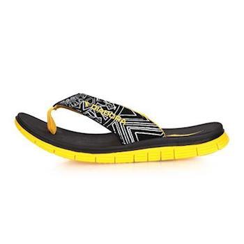 【DIADORA】男運動拖鞋-夾腳拖鞋 人字拖 游泳 戲水 海邊 海灘 沙灘 黑黃白